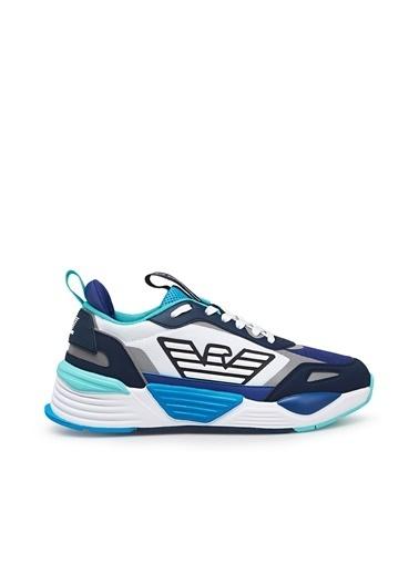 Emporio Armani  Marka Logolu Kalın Tabanlı Spor Ayakkabı Unısex Ayakkabı X8X070 Xk165 N342 Beyaz